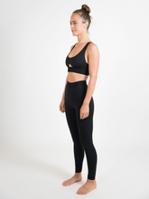 Load image into Gallery viewer, Maha Yogi black Kae sports bra ethical activewear made from deadstock fabrics sustainable fashion