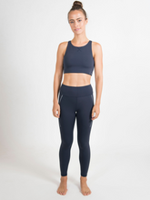 Load image into Gallery viewer, Maha Yogi Luna Bra blue ethical activewear sustainable fashion brand