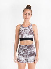 Load image into Gallery viewer, LUNA shorts ethical activewear Maha Yogi made from upcycled deadstock fabrics