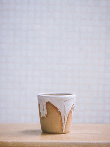 milk drip cup The Broke Potter handmade ceramics made in Hong Kong in small batches