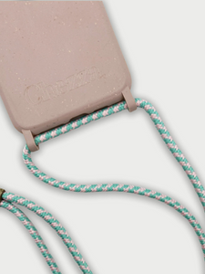 Sustainable Crossbody Phone Case / Rose & Flamingo