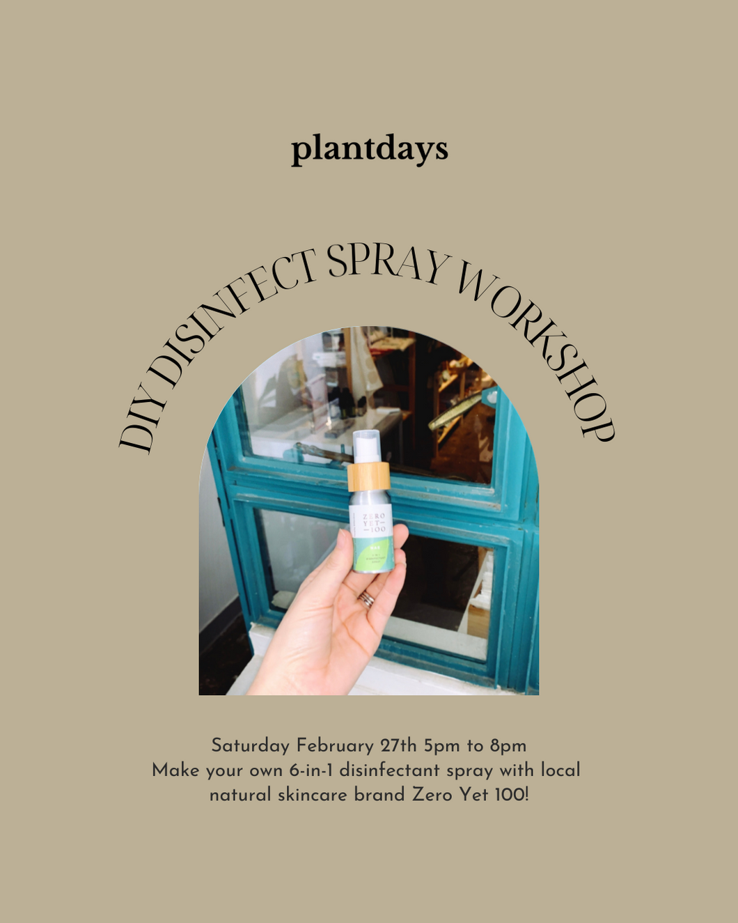 DIY disinfectant spray workshop with Zero Yet 100