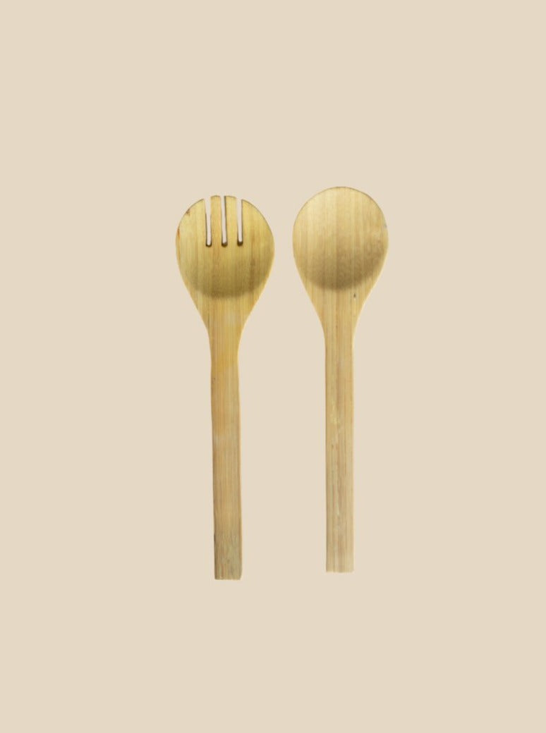 bamboo serving utensils handmade and biodegradable eco-friendly dinnerware