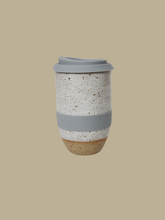 Load image into Gallery viewer, handmade ceramic travel mug made in Hong Kong timeless elegant tableware Sowtale