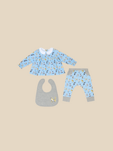 Load image into Gallery viewer, Playful Cats Reversible Teatime Blouse and Pants Gift Set
