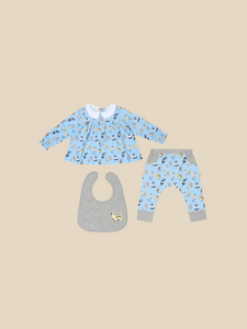 Playful Cats Reversible Teatime Blouse and Pants Gift Set