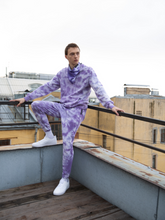 Load image into Gallery viewer, purple lilac tie-dye loungewear trousers 100% organic cotton Maha Yogi ethical brand