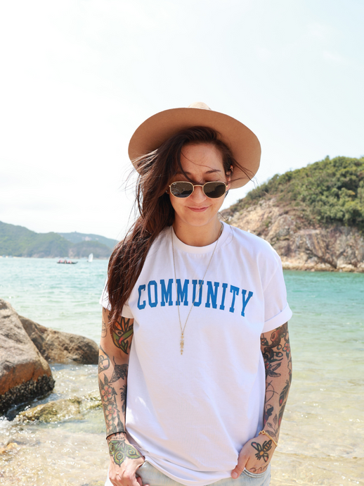 Community t-shirt ethical slow fashion small batch Basics for Basics x Plantdays limited edition cotton t-shirt