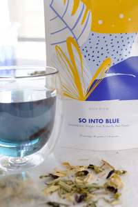 Blue Brew Tea butterfly pea tea handcrafted in Hong Kong