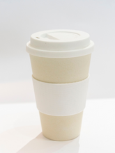 Load image into Gallery viewer, 100% biodegradable bamboo fibre coffee mug travel cup