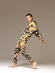 Nebula trousers 100% organic cotton tie-dye loungewear pants mustard sustainably ethical brand