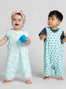 organic cotton 100% GOTS certified organic cotton baby & children's clothing dino cactus romper Cotton Pigs