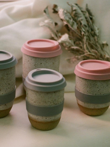handmade ceramic travel mug made in Hong Kong timeless elegant tableware Sowtale