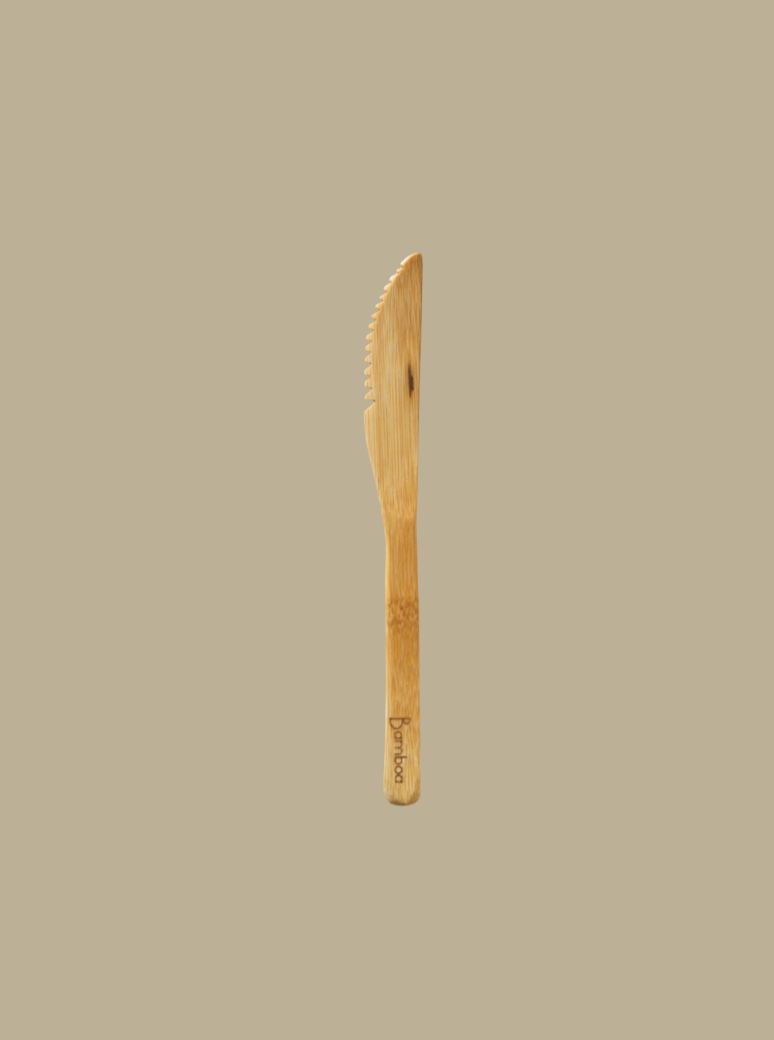 bamboo knife 100% biodegradable reusable cutlery