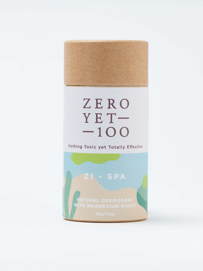 Z1 spa push deodorant stick Zero Yet 100 natural cruelty-free skincare