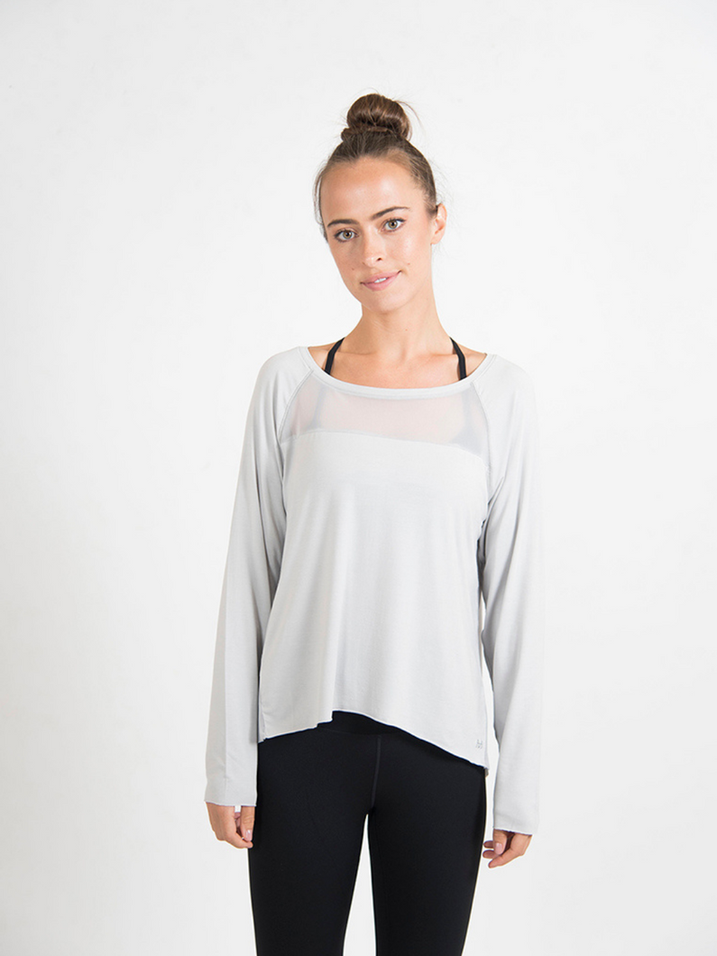 long sleeve modal activewear top Maha Yogi ethical activewear sustainable fashion brand