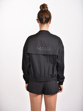 Load image into Gallery viewer, Maha Yogi windbreaker black ethical activewear made from upcycled deadstock fabric