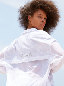 windbreaker off white Maha Yogi ethical activewear at affordable prices free worldwide shipping