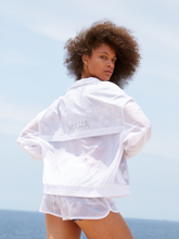 Load image into Gallery viewer, windbreaker off white Maha Yogi ethical activewear at affordable prices free worldwide shipping
