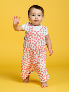 organic cotton 100% GOTS certified organic cotton baby & children's clothing unicorn apples romper Cotton Pigs