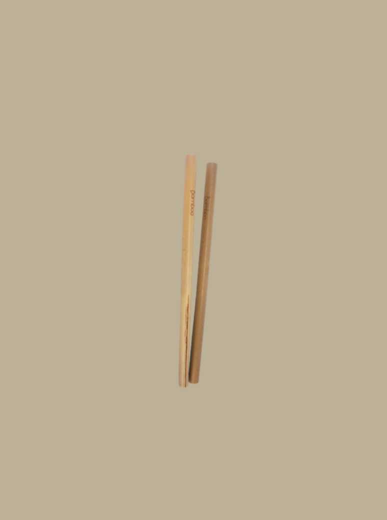 100% natural bamboo straw zero waste essentials