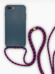 Sustainable Crossbody Phone Case / Himalayan Blue