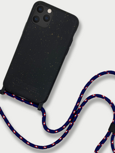 Sustainable Crossbody Phone Case / Granite Black & Navy