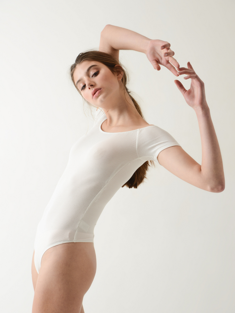 QUIN white minimal bodysuit by Annibody local ethical Hong Kong brand