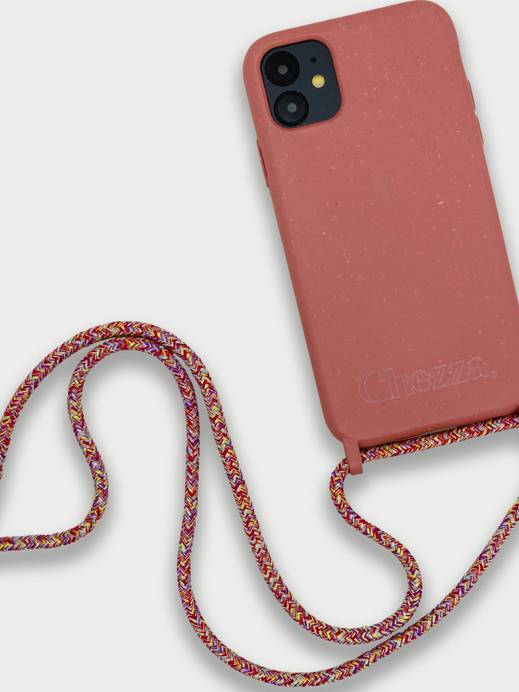Sustainable Crossbody Phone Case / Strawberry & Multicolor