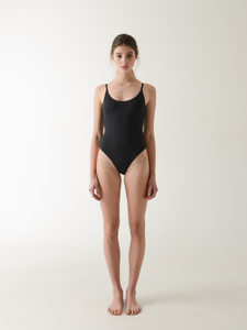 Annibody LEO black bodysuit minimal ethical fashion
