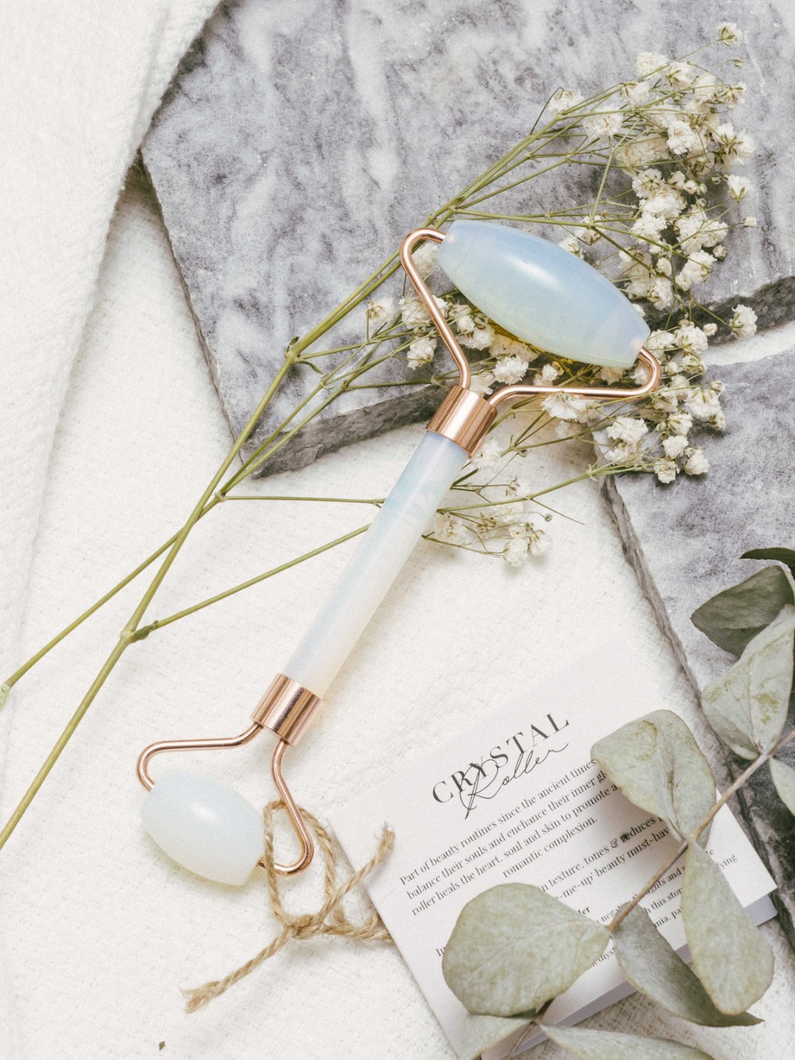 Opalite facial roller the third eye