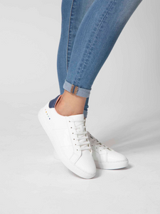 Lacess sustainable sneakers made from upcycled leather scraps