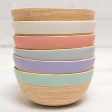 Load image into Gallery viewer, bamboo snack bowl handmade in Vietnam eco-friendly biodegradable tablewares