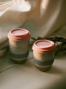 handmade ceramic travel mug made in Hong Kong timeless elegant tableware