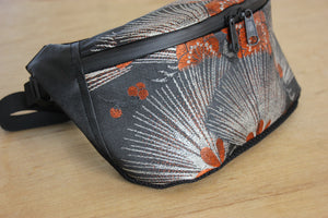 Mikan bags upcycled antique kimono bum bags crossbody bags ethical fashion made in Japan