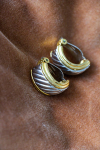 vintage gold and silver clip-on earrings