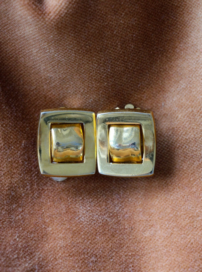 verified authentic vintage gold-tone earrings sustainable fashion
