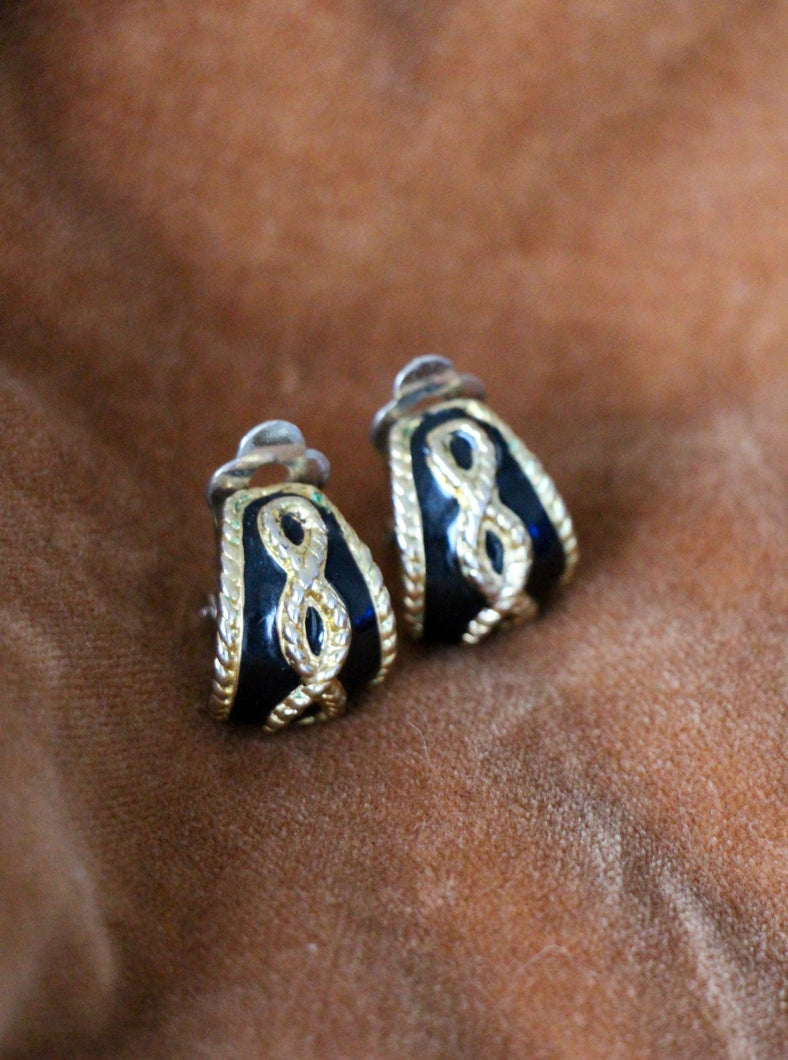 vintage earrings gold plated