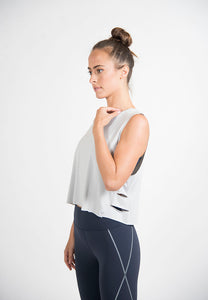 Maha Yogi sugba tank top grey ethical activewear