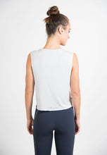 Load image into Gallery viewer, Maha Yogi sugba tank top grey ethical activewear modal tank top yogi wellness brand