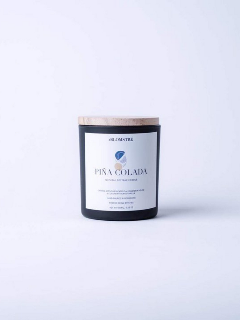 pina colada 100% natural soy wax candle handcrafted in Hong Kong made with 100% essential oils all natural eco-friendly home goods