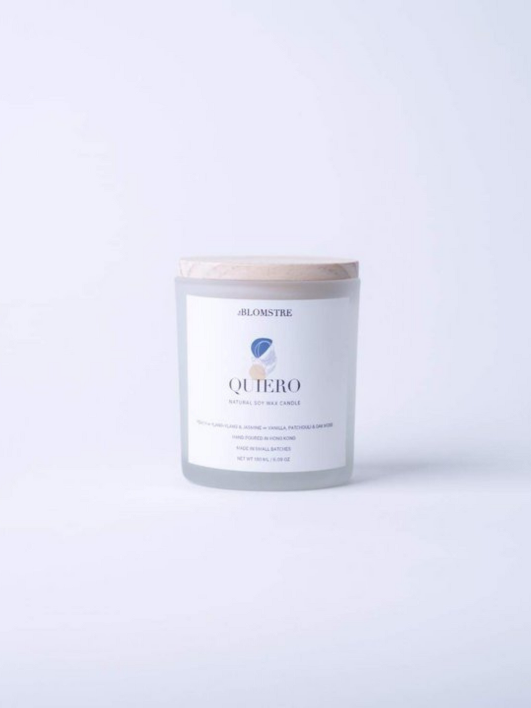 100% natural soy wax candle scented with essential oils handpoured in small batches