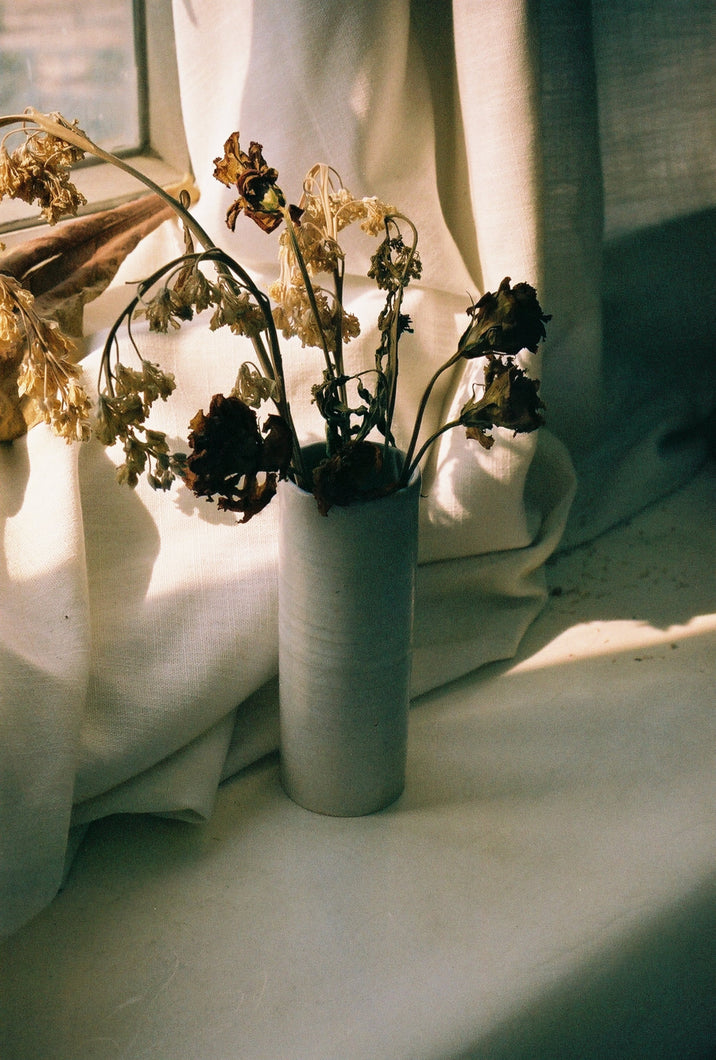 ceramic white vase handmade in Hong Kong natural eco-friendly