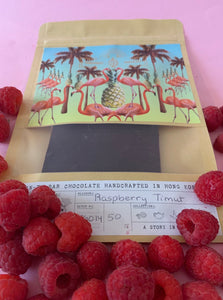 raspberry chocolate vegan bean-to-bar handmade in Hong Kong