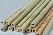 Load image into Gallery viewer, 100% natural bamboo straw zero waste essentials