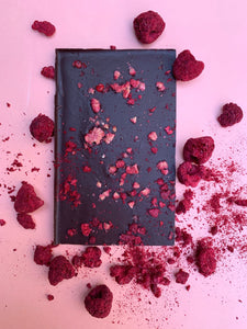 raspberry chocolate vegan bean-to-bar chocolate handmade in Hong Kong