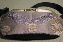 Load image into Gallery viewer, Japanese Kimono Bum Bag / Iridescent Silver