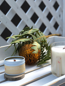 spiced citrus hand poured coconut and soy wax candle made in Hong Kong WOODCO