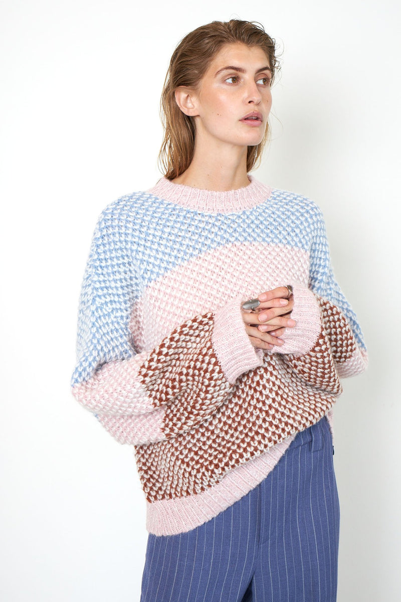 BERTHE knit o-neck⎜Light Mahagony