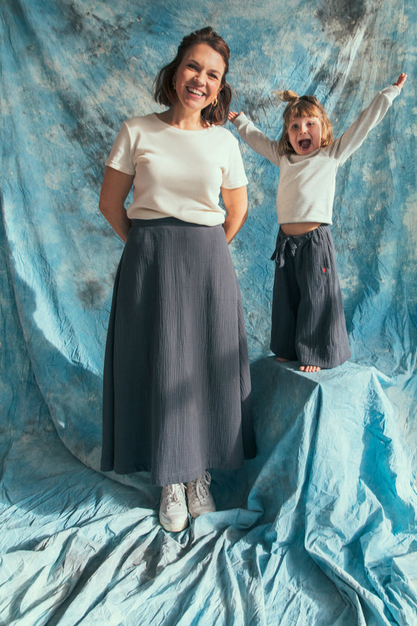 TETRA wide skirt⎜Arctic blue